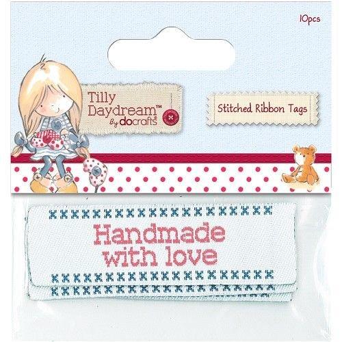 Embellishments / Verzierungen Genähtes Band Etiketten (10er) - Tilly Daydream