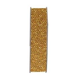 DEKOBAND / RIBBONS / RUBANS ... Bånd, glitter satin, gull, tre meter.