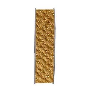 DEKOBAND / RIBBONS / RUBANS ... Dekoband, Glitzer Satin, gold, 3 Meter.