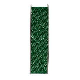 DEKOBAND / RIBBONS / RUBANS ... Ribbon, glitter satin, grøn, 3 meter.