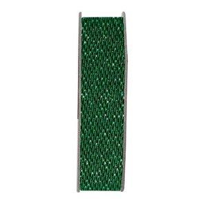 DEKOBAND / RIBBONS / RUBANS ... Dekoband, Glitzer Satin, grün, 3 Meter.
