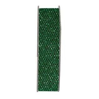 DEKOBAND / RIBBONS / RUBANS ... Papermania, lint, satijn Glitter, groen, 3 meter.