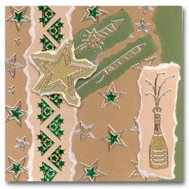 STICKER / AUTOCOLLANT Glitter Stickers: Glitter silver / gold