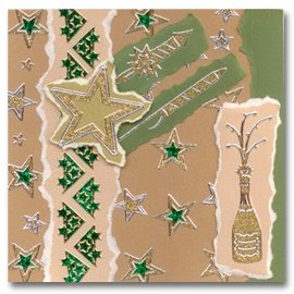 Sticker Autocollants Glitter Glitter: argent / or