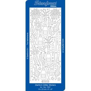 STICKER / AUTOCOLLANT Glitter Stickers: Glitter zilver / goud