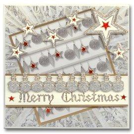 STICKER / AUTOCOLLANT Glitter Stickers: Glitter zilver / goud leuke sneeuwmannen