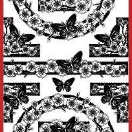 "Sticker Ziersticker, ""butterflies"", silver / silver"