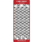 """Sticker Detailliert, geprägte Ziersticker, """"Schmetterlinge"""", silber/silber,"""