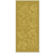 """Sticker Ziersticker, """"farfalle"""", oro / oro"""