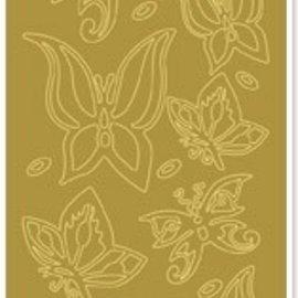 """Sticker Ziersticker, """"butterflies"""", gold / gold"""