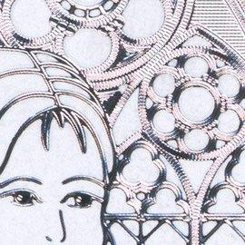 "STICKER / AUTOCOLLANT Ziersticker, ""Communion / Confirmation, girl,"" Transp. / Silver"