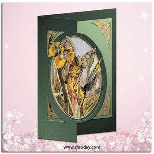 """STICKER / AUTOCOLLANT Ziersticker, """"Flower Angel"""", transp. / Goud"""