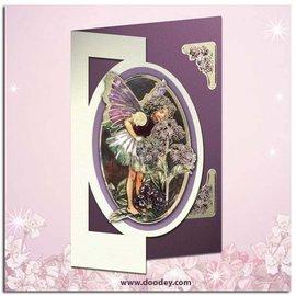 "Sticker Ziersticker, ""Flower Angel"", transp. / Or"