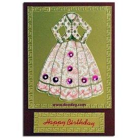 "STICKER / AUTOCOLLANT Embroidery decorative sticker, ""fashion"", transp. / Gold,"