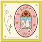 STICKER / AUTOCOLLANT 1 Ziersticker Lovebirds goud