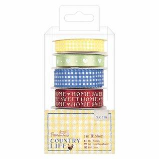 Embellishments / Verzierungen Decoratieve tape, Country Life