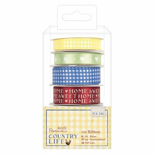 Embellishments / Verzierungen Decorative tape, Country Life