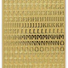 Sticker Autocollant Contours, en majuscules, l'or