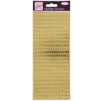Sticker Konturensticker, Großbuchstaben, gold