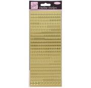 Sticker Konturensticker, Kleinbuchstaben, gold