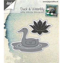 Joy!Crafts / Jeanine´s Art, Hobby Solutions Dies /  Ponsen sjabloon: Duck en waterlelie