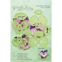 Punching template: make 3D Flowers