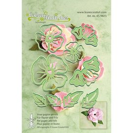 Leane Creatief - Lea'bilities und By Lene make 3D flowers: punching template