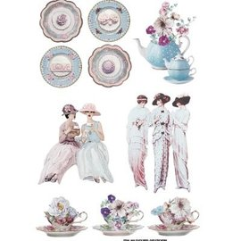 Embellishments / Verzierungen Etiqueta Escena: Tea Party