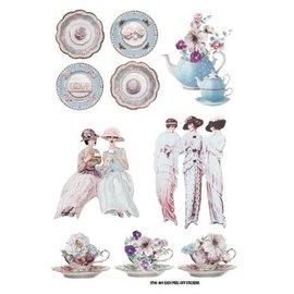 Embellishments / Verzierungen Scene klistremerke: Tea Party