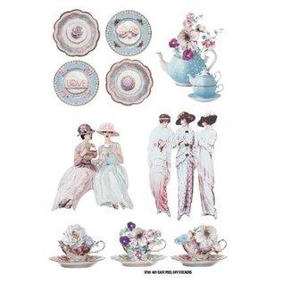 Embellishments / Verzierungen Motivsticker: Tea Party