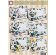 BASTELSETS / CRAFT KITS ensemble complet de la carte, Panda Parade
