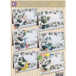 ensemble complet de la carte, Panda Parade