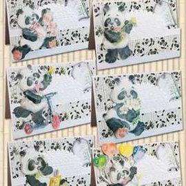 BASTELSETS / CRAFT KITS ensemble complet de la carte, Panda Parade