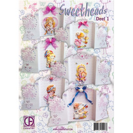 BASTELSETS / CRAFT KITS complete cards Kit: Sweetheads