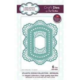 CREATIVE EXPRESSIONS und COUTURE CREATIONS Punching template: The Atlantic Ocean Collection