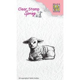 Nellie Snellen timbro trasparente: pecore