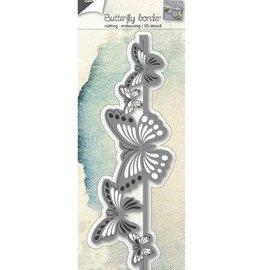 Joy!Crafts / Jeanine´s Art, Hobby Solutions Dies /  Stanzschablonen: 3D Schmetterling Bordüre