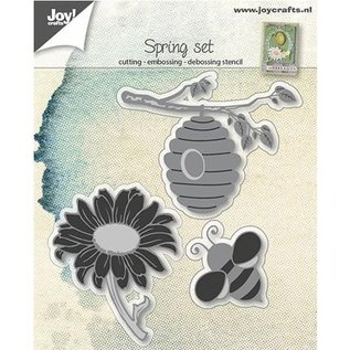 Joy!Crafts / Jeanine´s Art, Hobby Solutions Dies /  Cutting dies: Bee basket and sunflower