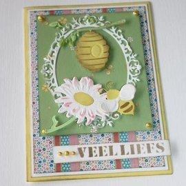 Joy!Crafts / Jeanine´s Art, Hobby Solutions Dies /  dies coupe: Bee panier et tournesol