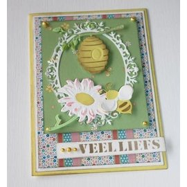 Joy!Crafts / Jeanine´s Art, Hobby Solutions Dies /  Cutting dies: Bij mand en zonnebloem