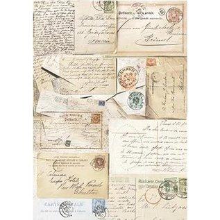 DECOUPAGE AND ACCESSOIRES Silkpaper Postcards von Powertex