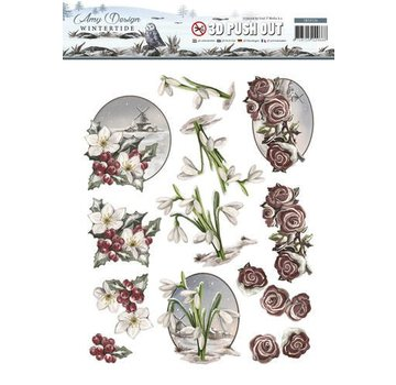 AMY DESIGN AMY DESIGN, Die cut sheets: Blomster