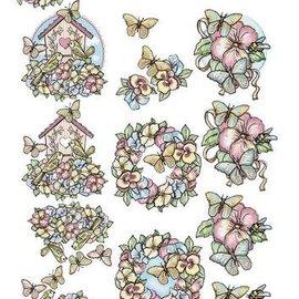 Yvonne Creations láminas troqueladas: Primavera