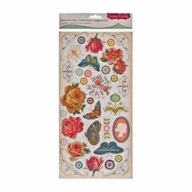 Embellishments / Verzierungen adesivi truciolare, 34 disegni