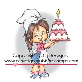 C.C.Designs sello de goma, Baker Nancy