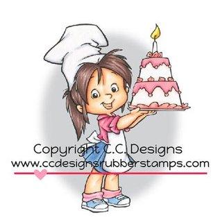 C.C.Designs Rubber zegel, Baker Nancy