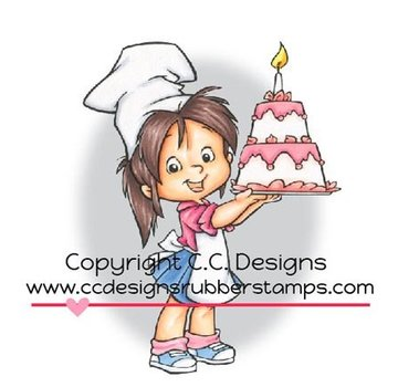 C.C.Designs Rubber stamp, Baker Nancy