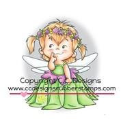 C.C.Designs Gummi Stempel, Fairy Twila