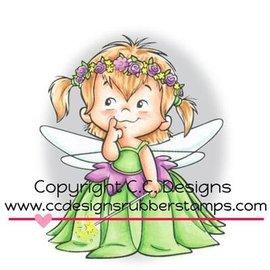 C.C.Designs Rubberen stempel, Fairy Twila
