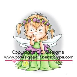 C.C.Designs Rubber zegel, Fairy Twila